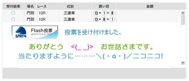 門別北海道スプリントカップの馬券