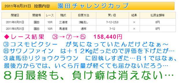 園田チャレンジカップのレース結果