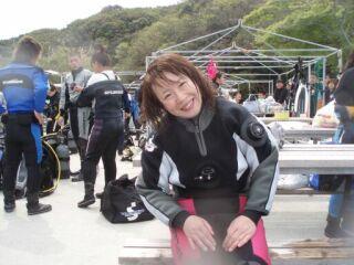 20070415直ちゃん笑顔ドライスーツ