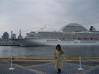 神戸ハーバーランド客船直美