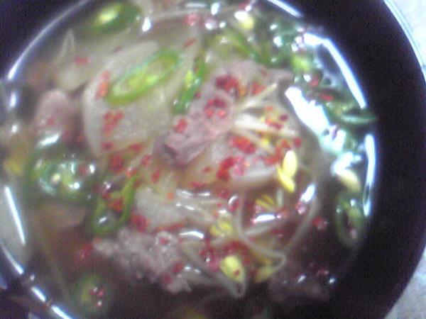 スジ肉スープ
