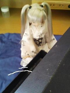 棺桶を開ける髑髏姫