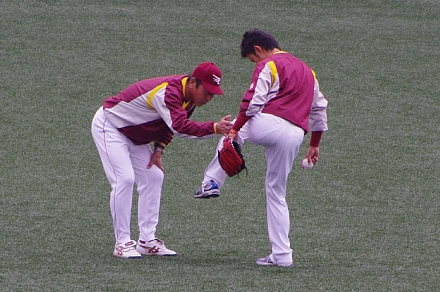 佐藤コーチ&川岸選手