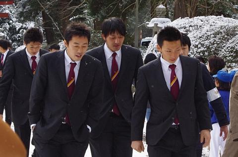 松本選手、山村選手、岩隈選手、嶋選手