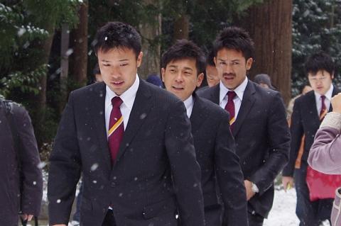 鉄平選手、草野選手、松井稼頭央選手