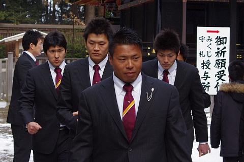 木村選手、片山選手、岩村選手、塩見選手