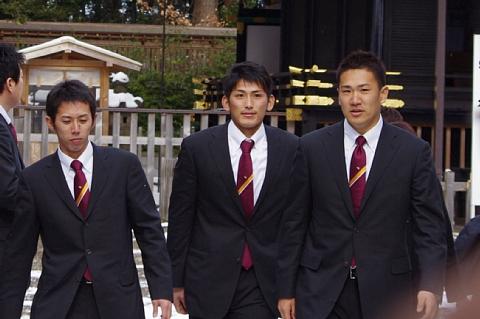 松井宏次選手、中川選手、田中選手
