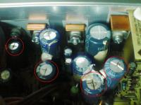 TX70L 電源BOX内部の一部分のアップ。