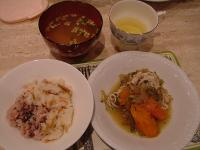 和食で夕食
