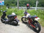 宮司さんと私のバイク