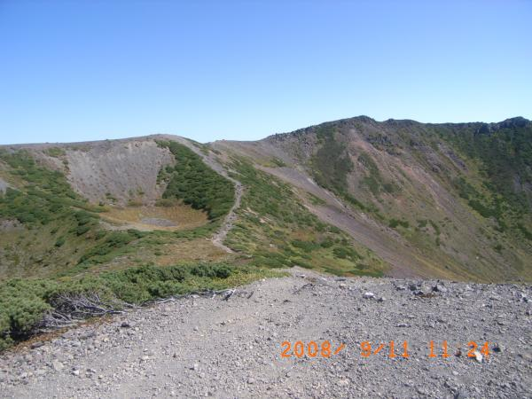 羊蹄山中央火道