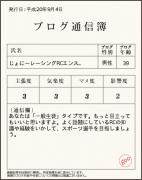 ブログにも通信簿が?!