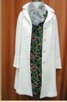 ホコモモラ2009冬 幾何学花柄ワンピ コート ファー
