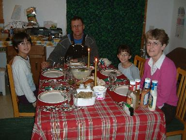 クリスマスディナー20071225