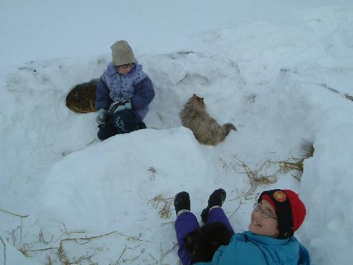子供雪遊び012720082