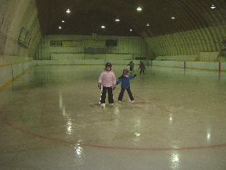 2006年冬初めてのスケート