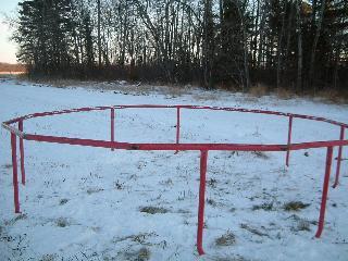 トランポリン冬支度