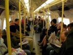 イギリス ロンドン 地下鉄車内