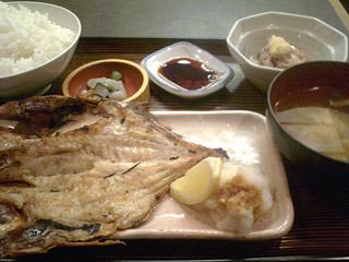 焼き魚定食(きんめ鯛開き)