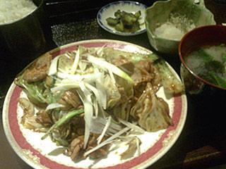 回鍋肉定食