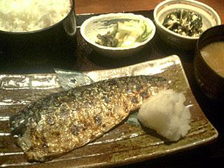 焼魚(サバの塩焼)定食