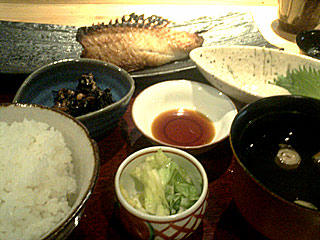 赤魚鯛の粕漬けとお造り