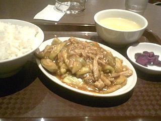 ナスと豚肉の炒めセット