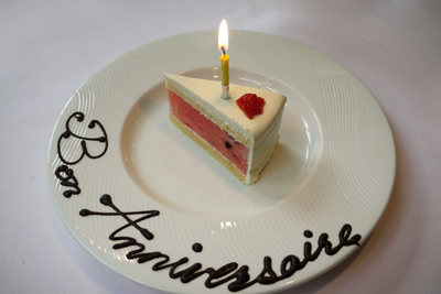 仁重誕生日 スイカのショートケーキ P1130841
