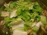 白菜スープ。