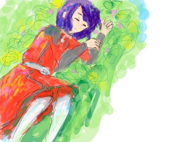 アスランとお花