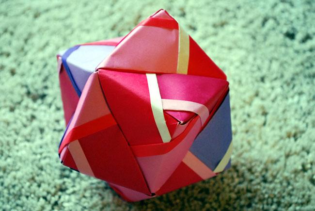 すべての折り紙 折り紙で作るコースター : 糸とキッチン |【くす玉】