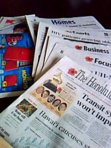 ハワイの新聞2