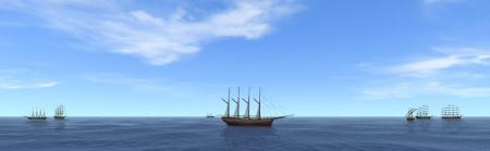 マグロ一本釣り船団