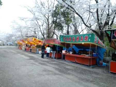 上田城桜屋台