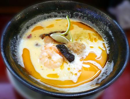 玉子と柚子の爽快!辛麺