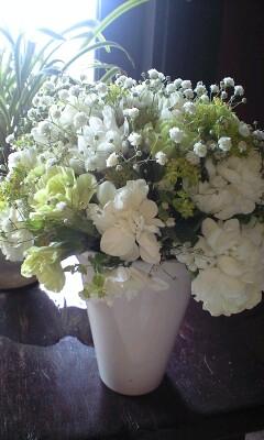 かわいい お花が 届きました♪