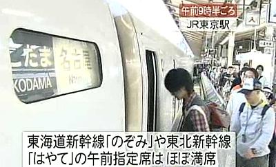 新幹線の乗車率