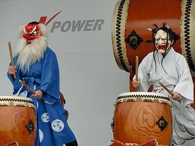 小早川水軍太鼓-般若と天狗の共演
