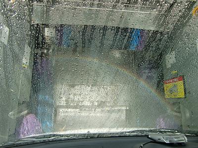 車の中から見た洗車機