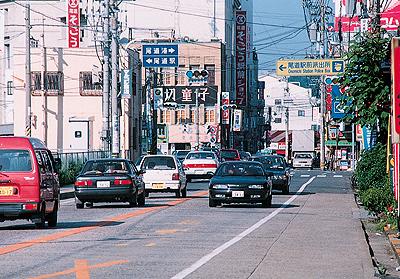 約20年前の尾道駅より西側の風景