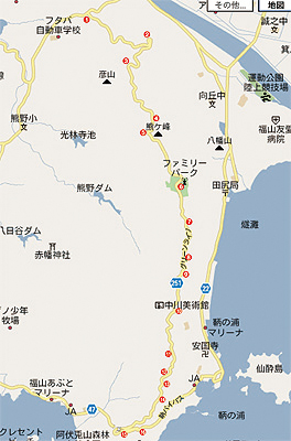福山グリーンラインmap