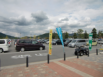 湖畔の里 駐車場の様子