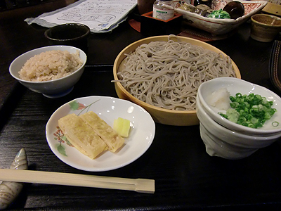 鯛飯と蕎麦