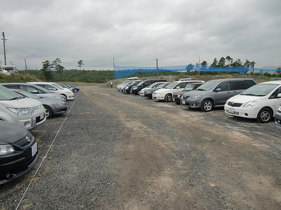 第二駐車場のテクニックステージ タカタ