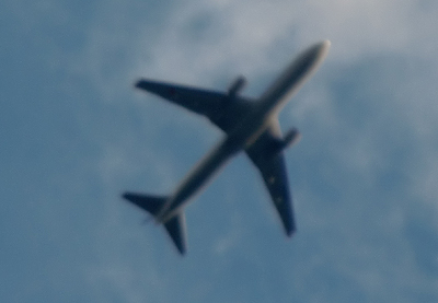 広島空港から飛び立った飛行機