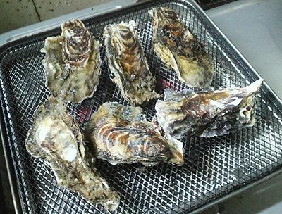 焼き牡蠣中