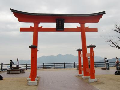 宮島サービスエリアにある厳島神社の鳥居
