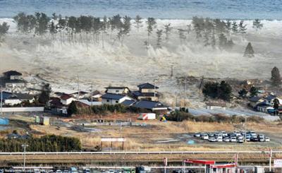 津波直撃の様子