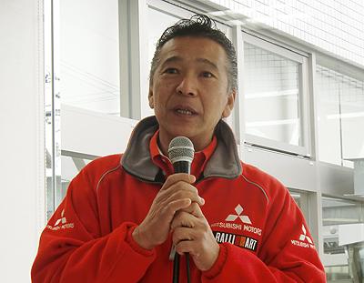 トークショーでの増岡浩 氏