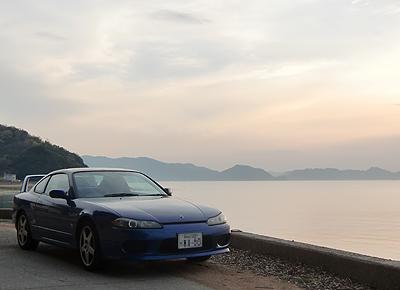 横島海岸線にて夕景